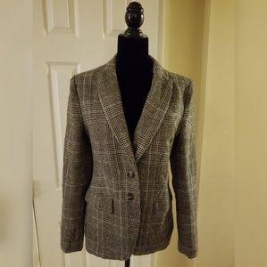 Love Tree Gray and Brown Tweed Blazer Jacket